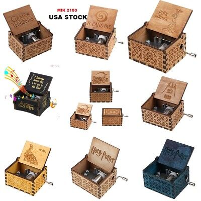 Harry Potter Interesting Craft Gift Toys Music Box Engraved Wooden Music Box USA Collectible Music Box Gift