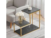 3 Tier Corner Sofa Coffee Table - Brand New - Fast & Free Tracked Delivery