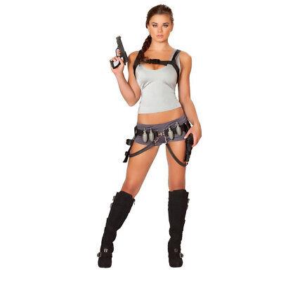 Sexy Treasure Huntress Womens Costume Lara Croft Tomb Raider Cosplay Movie - Tomb Raider Cosplay Kostüm