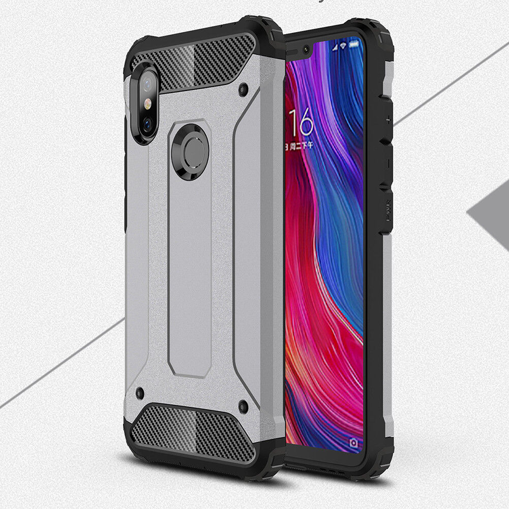 For Xiaomi F1 Redmi Note 6 Pro 6A Hybrid Armor Shockproof Hard PC+TPU Cover Case