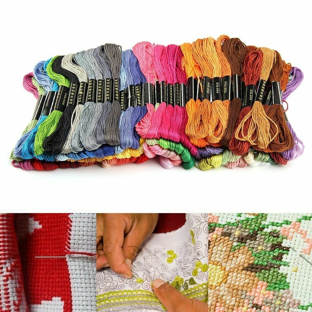 7.5cm Multi Colors Cross Stitch Cotton Embroidery Thread Sewing Floss Skein K0X7