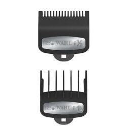 2 PCS Wahl Premium Clipper Cutting Guides Guards Metal Clip Set #1/2 & #1 1/2