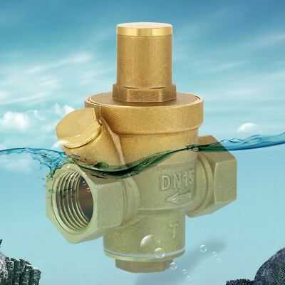 Dn15 12 Brass Water Pressure Reducing Regulator Valve Reducer W Gauge Meter