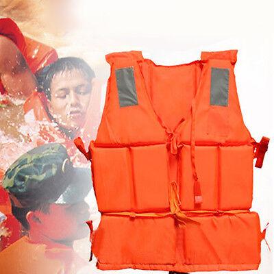 Adult Lifesaving Vest Aid Sail Boating Sports Swimming Life Jacket +SOS Whistle