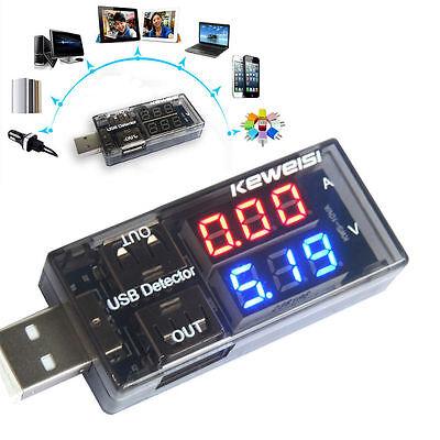 USB Charger Current Voltage Charging Detector Battery Tester Volt Ammeter KY