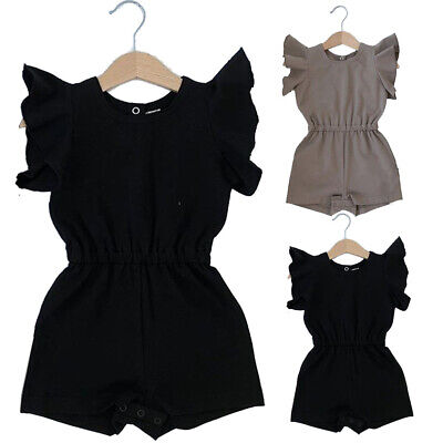 US Infant Toddler Baby Girl Romper Bodysuit Sunsuit Outfit Clothes Playsuit 0-2T