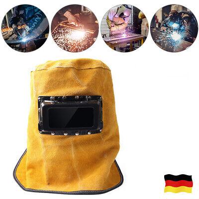 Filter Gegenlichtblende Schweißer Leder Maske Schutz Schweißen Arbeit Helm