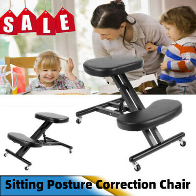 Kneeling Chair Orthopaedic Stool Ergonomic Posture Office Frame Seat Black