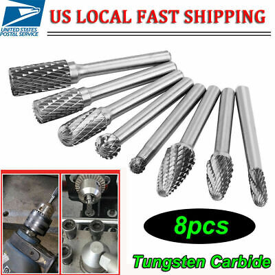14 Double Cut Tungsten Steel Carbide Rotary Burr Die Grinder Shank Bit Set Us