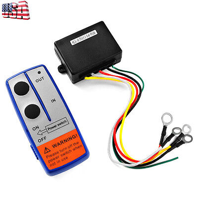 Winch Remote System (12V Electric Winch Wireless Remote Control System Switch For Truck Jeep ATV SUV )