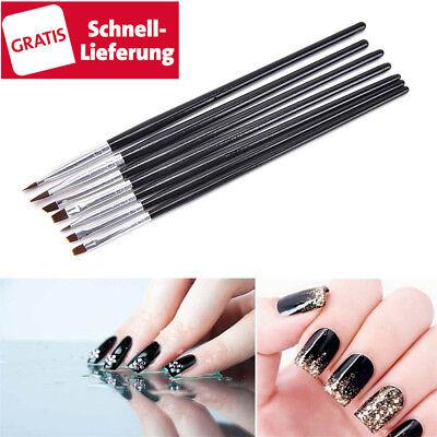Gel-pinsel (7 tlg UV Acryl Gel set Pinsel Stift Gelpinsel Nail Art Nagelart Maniküre Nailart)