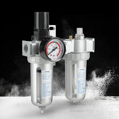 12 Air Compressor Filter Oil Water Separator Trap Tools Digit Regulator Gauge