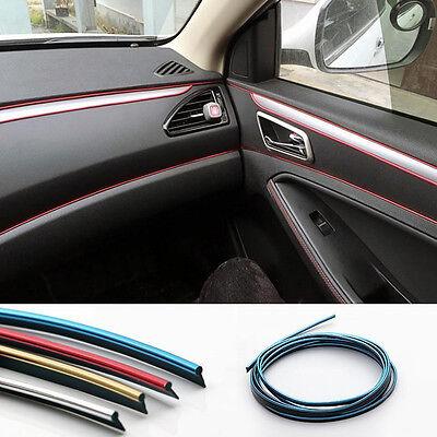 Durable 5 Meters Car Chrome Styling Decoration Moulding Trim Strip Tape 4 Colors