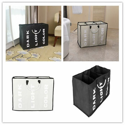 Foldable Laundry Sorter Hamper Clothes Storage Basket Bin Organizer Washing (Sorter Folding)