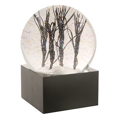 Decorative Water Snow Globe: Light up LED Tree Branches White Snow & Glitter