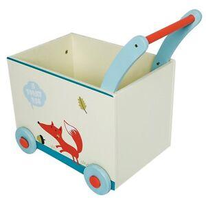 Kinder Holz Lauflernhilfe Lauflernwagen mit Aufbewahrungsbox Puppenwagen Gehfrei