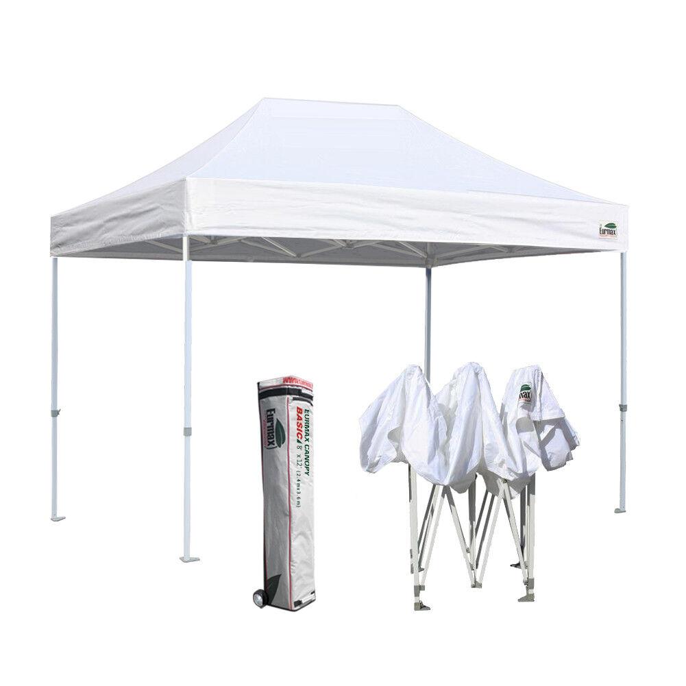 Ez Pop Up Canopy 8x12 White Commercial Vendor Sports Party T