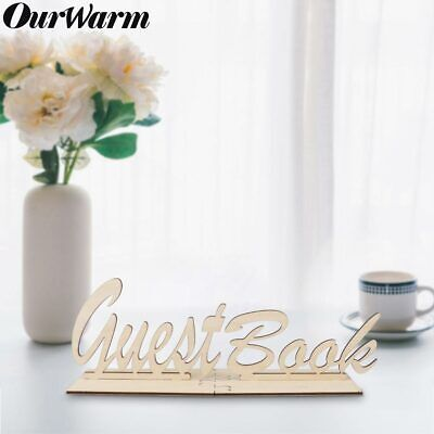 Rustic Wooden Wedding Guest Book Sign Visit Guest Sign Party Baby Shower Decor (Wedding Book)