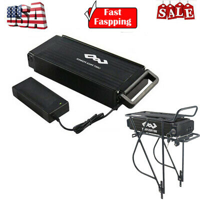 48V 15Ah Ebike Electric Battery Lithium Rear Rack for 750W 1000W Bicycle Motor