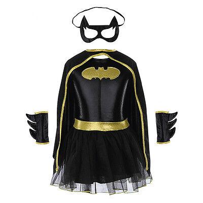 Batman Halloween Costumes For Girls (Halloween Costumes Superhero Girls Dress Children Batgirl Batman Party Cosplay)
