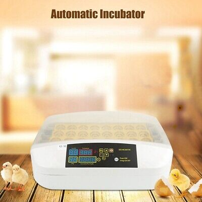 32 Eggs Fully Automatic Incubator Digital Poultry Hatcher Egg Turning LED Lamp