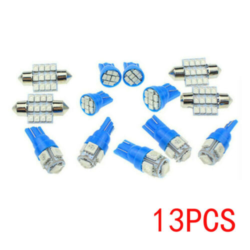 13x Auto Car Interior LED Lights For Dome License Plate Lamp 12V Kit Accessories Car & Truck Parts