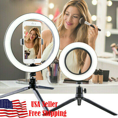 LED Ring Light Studio Photo Video Dimmable Lamp Tripod Stand Selfie Camera -