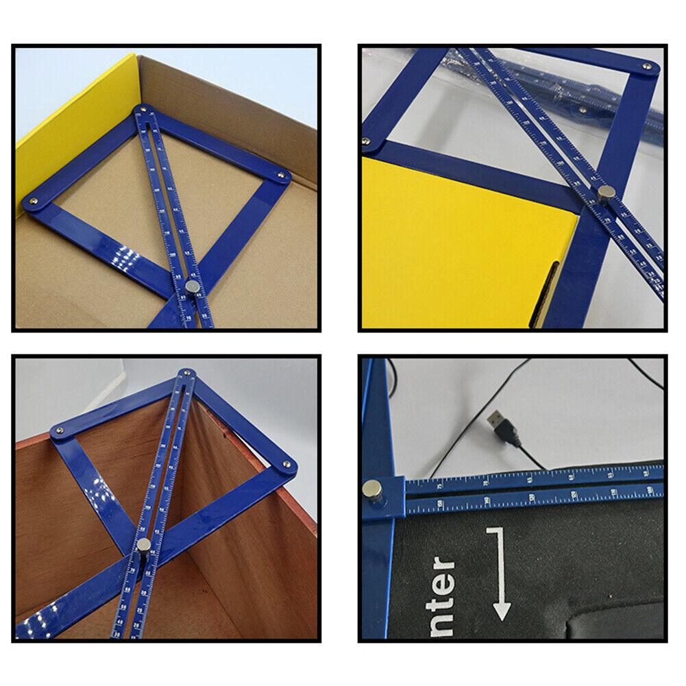 DIY Woodworking Model Tile Wood Ruler Multi-angle Corner Angle Finder Protractor