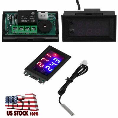 Dc 12v Digital Led Microcomputer Thermostat Controller Switch Temperature Sensor