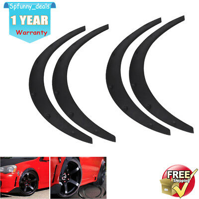 4X Universal Car Flexible PP Plastic Fender Flares Extra Wide Wheel Arches Tool