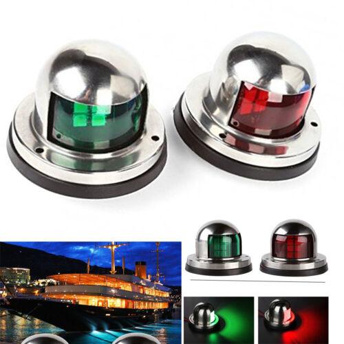 12V Stainless Steel LED Lights Marine Boat Yacht Pontoon Bow Navigation  2pcs