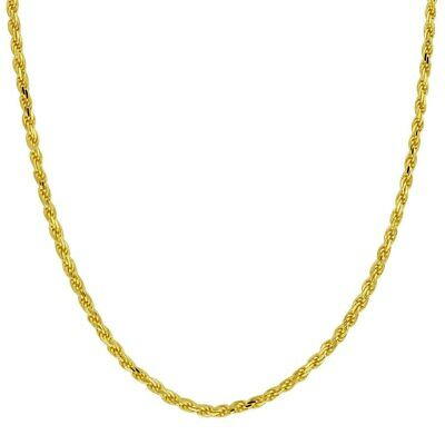 - 10k Yellow Gold Chain Necklace Pendant Rope 1mm Diamond Cut 30 Bracelet 1 10kt