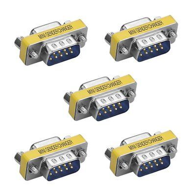 5 X 9Pin RS-232 DB9 Male to Female Serial Cable Gender Changer Coupler Adapter ()