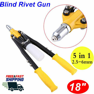 18 Riveter Gun Kit Blind Rivet Hand Tool Set Gutter Repair Heavy Duty Hand Tool