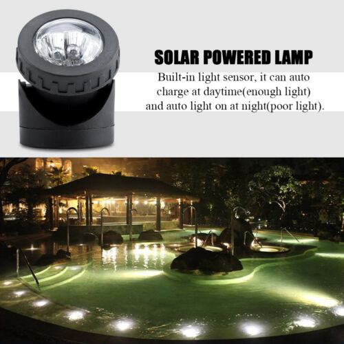 Solar Spotlights Underwater Projection Lights 6LED Garden Outdoor Pond Lamp