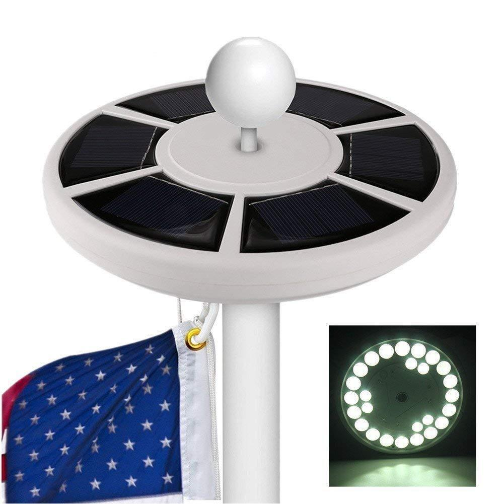 solar flag pole lights 26 led downlight