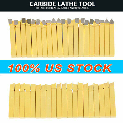 Carbide 38 Tip Tipped Cutter Tool Bit Cutting Set Metal Lathe Tooling -20 Pcs