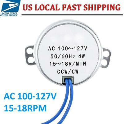Ccwcw Synchronous Synchron Motor Ac 100-127v 15-18rpm 4w 5060hz Usa