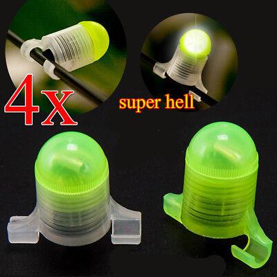 4 Stk LED-Bissanzeiger Knicklicht Rute Aal Nachtangeln elektronischer +Batterien ()