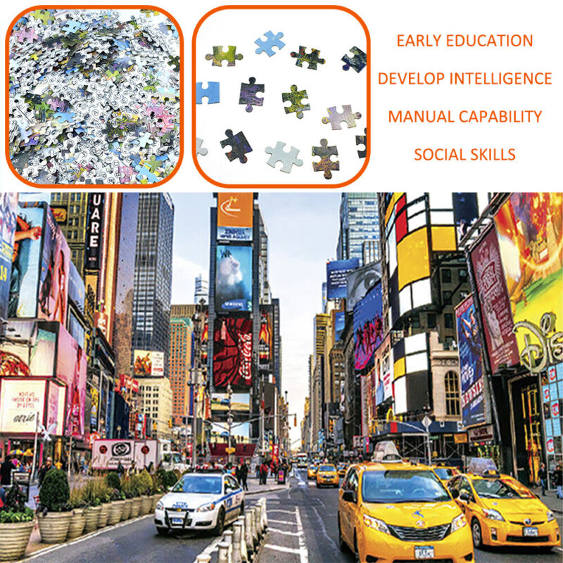 1000 piece Time Square Jigsaw Puzzle Difficult Puzzles Learning Education Gift