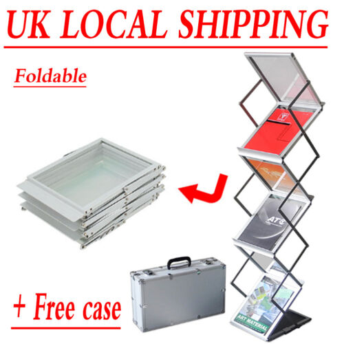 A4 Zed Up Folding Literature Brochure Leaflet Exhibition Floor Display Stand Uk