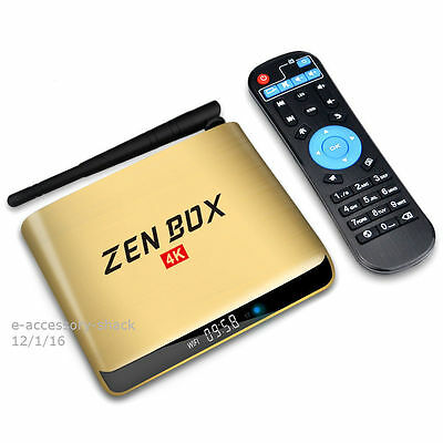 ZenBox 2G/16G S905X 4K Quad Core Android 6.0 TV Box Bluetooth 4.0 Dual Band WiFi