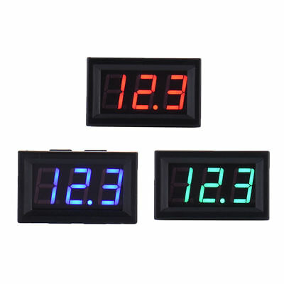 4.5-30v Dc Two-wire 0.56 Red Green Blue Panel Mount Digital Voltage Voltmeter