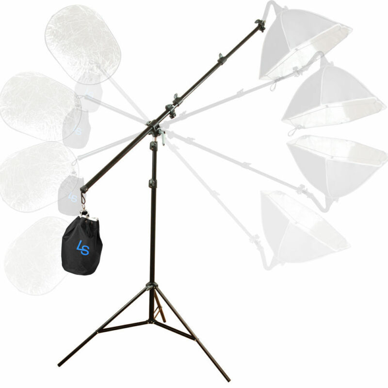 Photography Photo Studio Arm Bar Lighting Boom Stand Kit Light Stand Adjustable