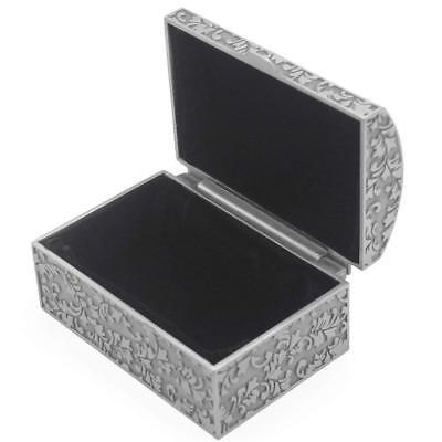 Vintage Metal Jewelry Box Small Trinket Storage Organizer Box Chest Ring Case - Chest Box