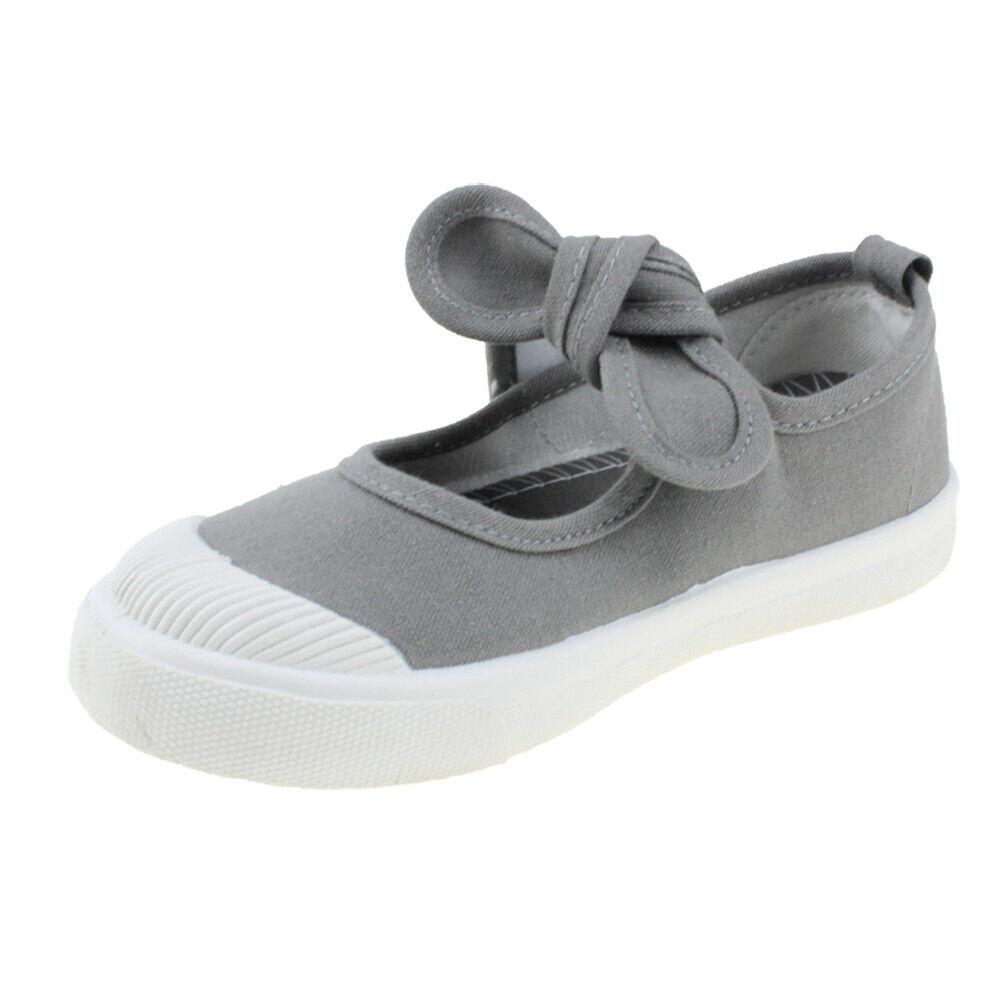 Girl's Canvas Flats Princess Bowknot Shoes