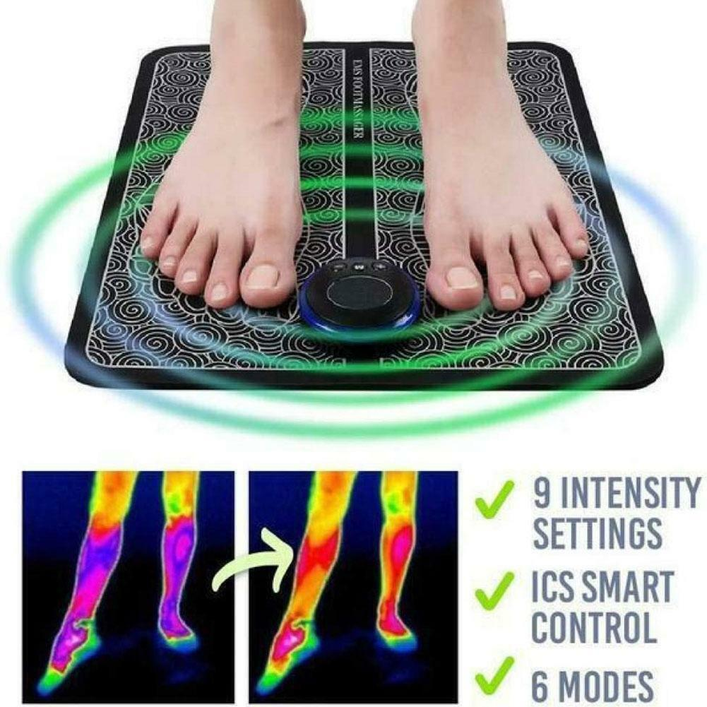 Elektrisches EMS Fußmassagegerät Pad Füße Muskelstimulator Fußmassagematte Best