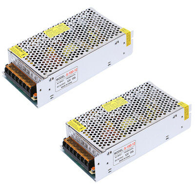 Lot 2 Ac 100v-220v Dc 12v 15a 180w Universal Regulated Switching Power Supply