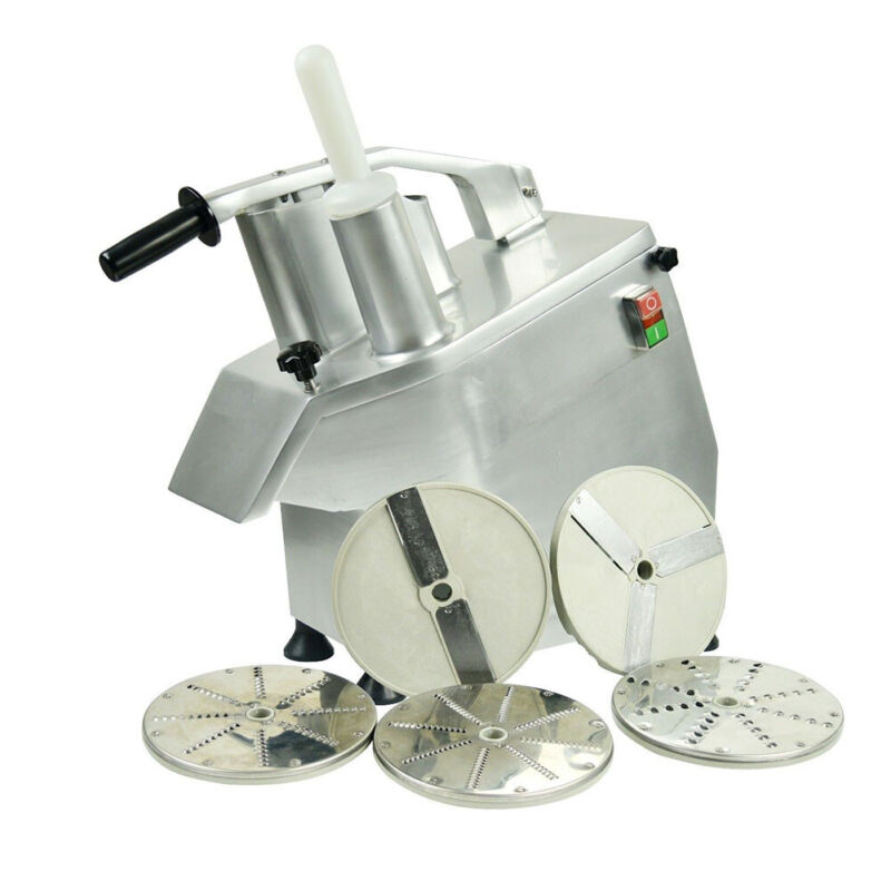 110V Commercial Food Processor Vegetable/Fruit Slicer Cutter 550WHigh Efficiency