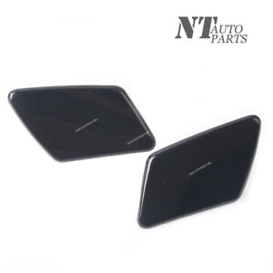 Qty2 Front Bumper Headlight Washer Jet Nozzle Cover Cap Fit Volvo V50 S40 05-07